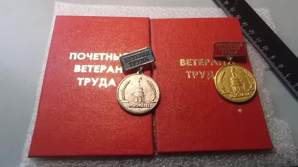 удостоверение и орден
